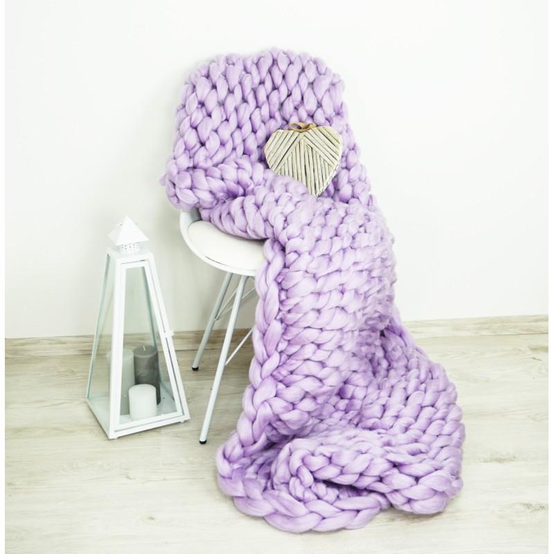 Pletená deka fialová 120 x 150 cm EMI