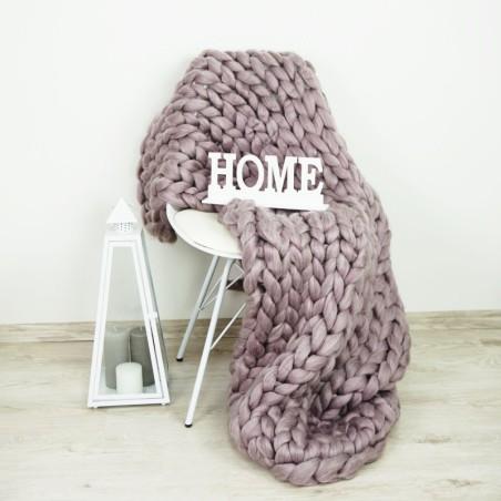 Pletená deka stará fialová 120 x 150 cm EMI