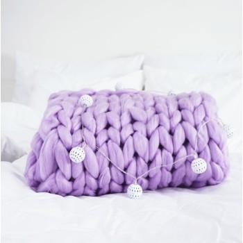 Pletená deka fialová 100 x 120 cm EMI