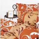 bavlnené posteľné prádlo hnedé