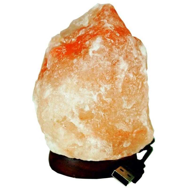 Soľná lampa USB plameň