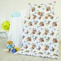 Obliečky detské bavlnené macko biele EMI