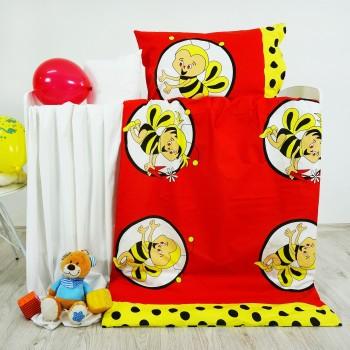 Obliečky detské bavlnené včielky červené EMI