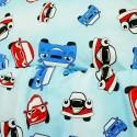 Obliečky detské autá modré