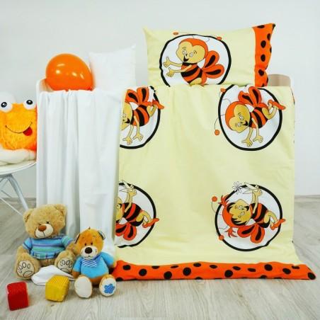 Obliečky detské bavlnené včielky oranžové EMI