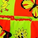 Obliečky detské bavlnené zvieratká červené EMI