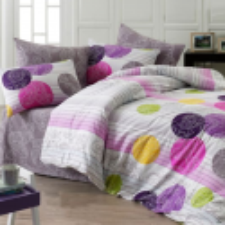 Obliečky bavlnené Kamelya fialové