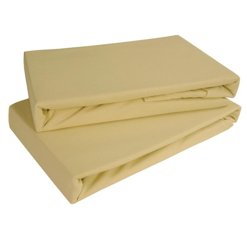 Pachta posteľná hnedá jersey EMI