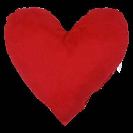 Vankúš Srdce červený semiš EMI