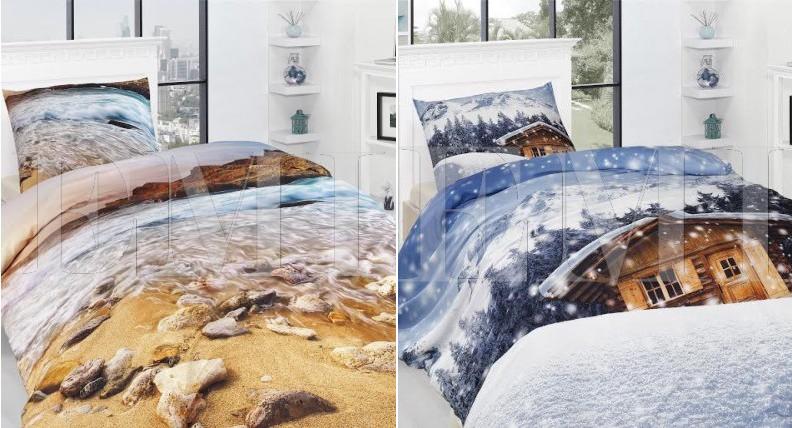 3d posteľné obliečky motívy na posteľ oživia každú spálňu