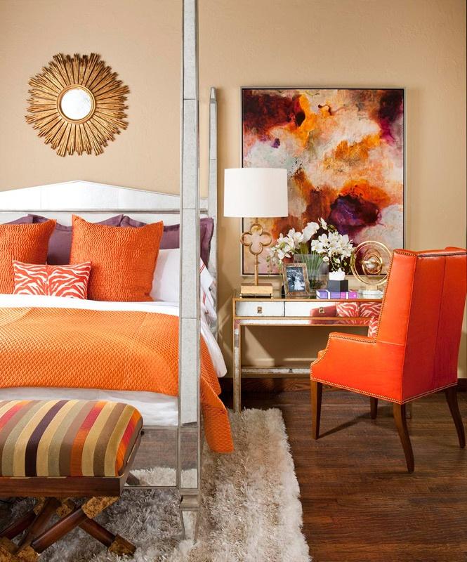 oranžová spálňa