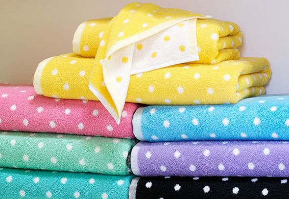 Bodkované uteráky a osušky