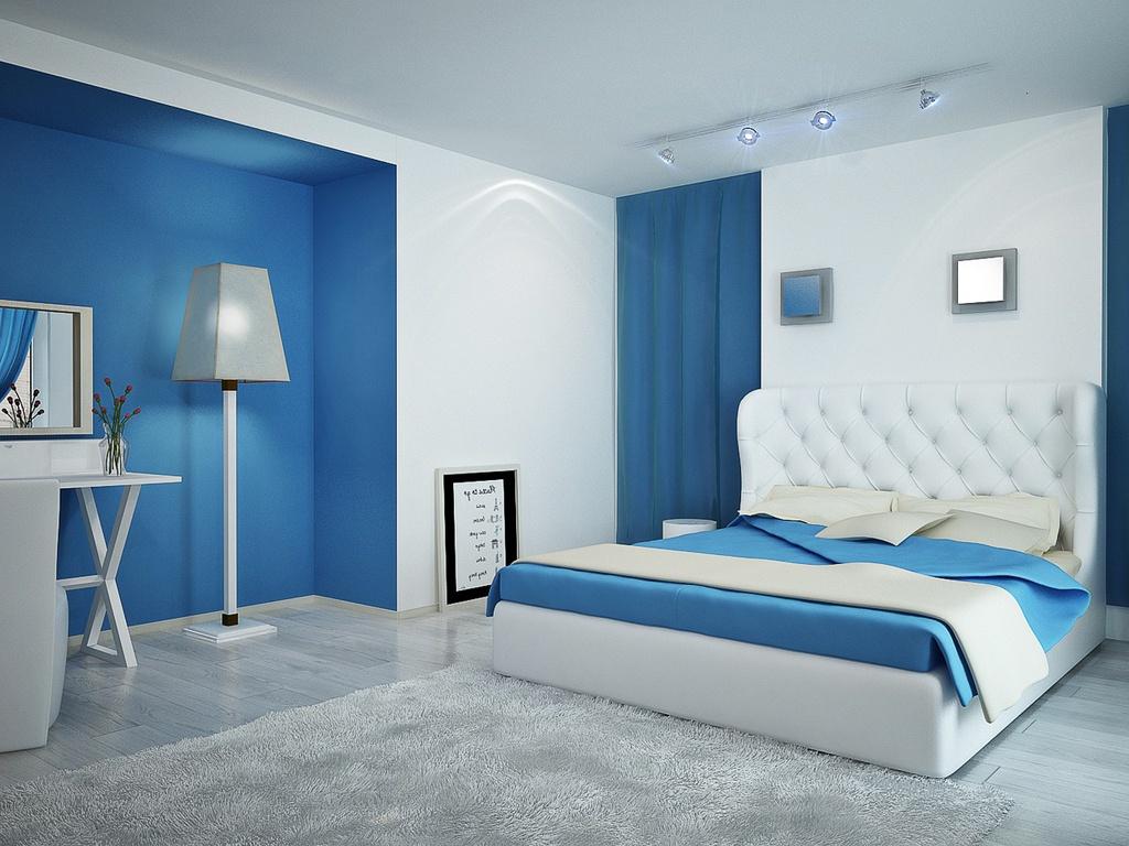 plachta na posteľ modrá