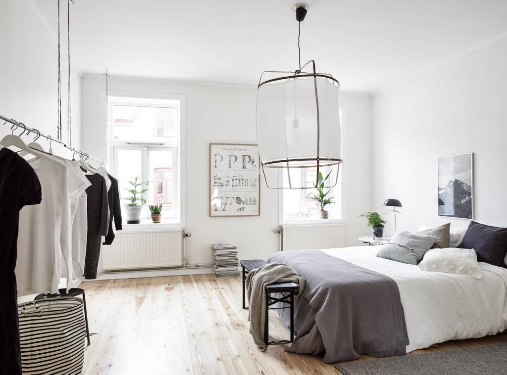 minimalistická industriálna spálňa