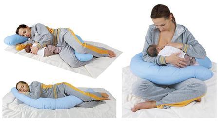 Modrý tehotenský vankúš