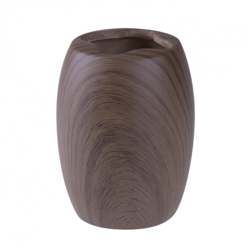 Držiak na zubné kefky s imitáciou dreva