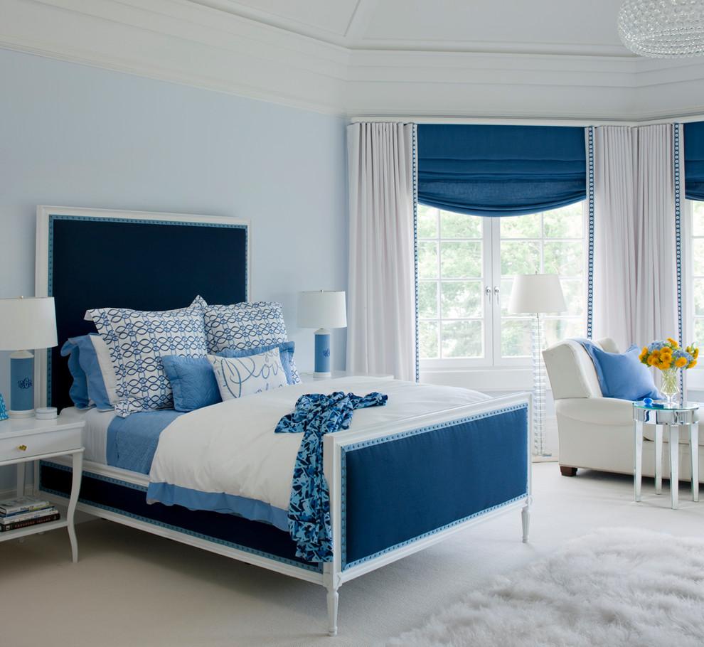 Modrá spálňa krásna trend 2014