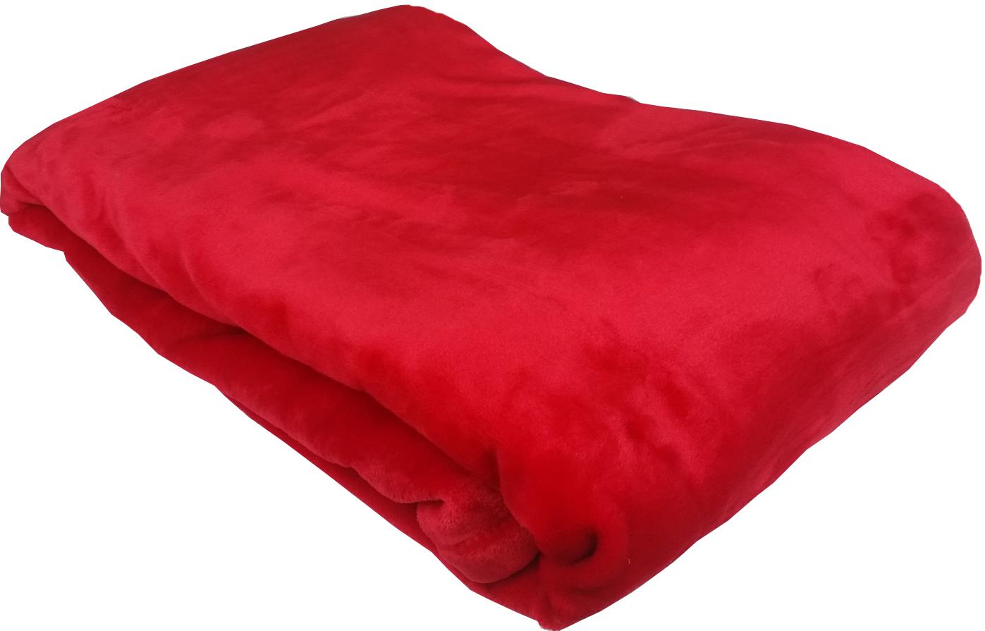 Červená flanelová deka