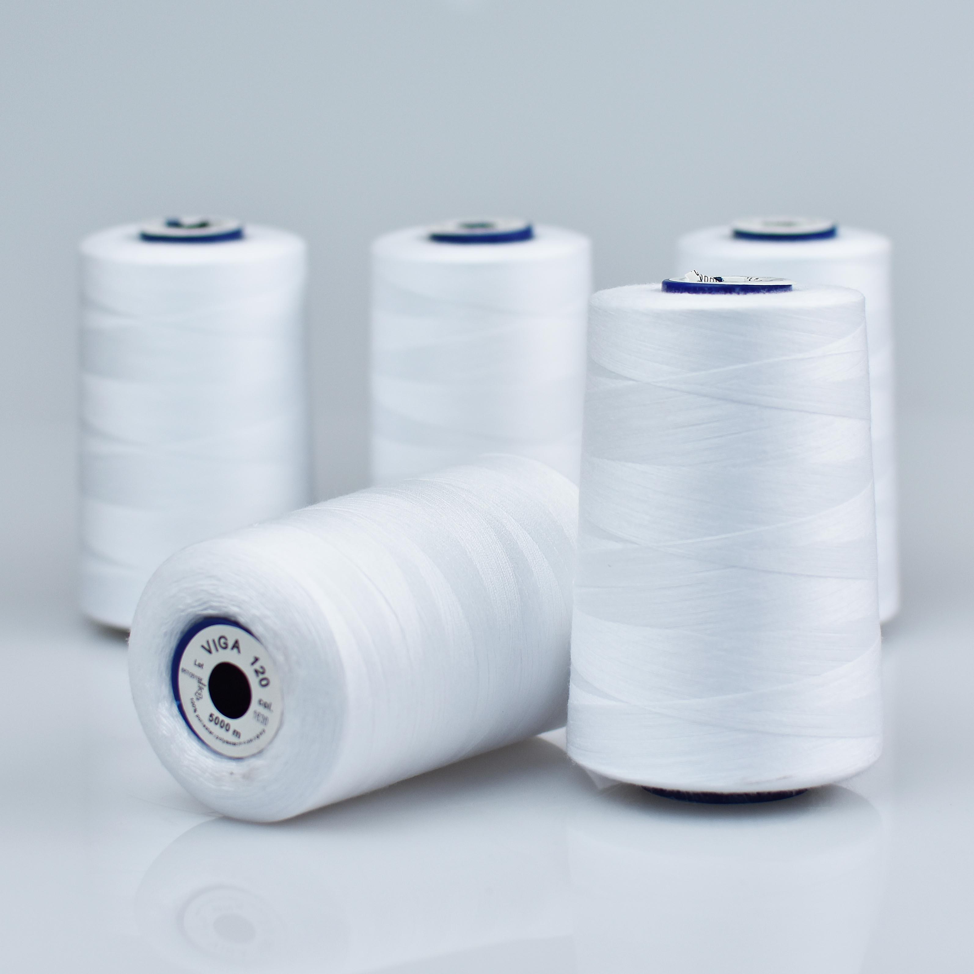 biela niť na ručné šitie