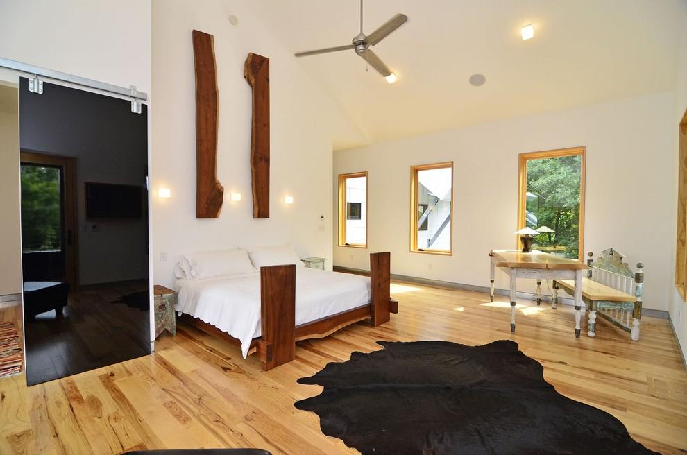 Prírodné prvky materiály drevená spálňa trend 2014