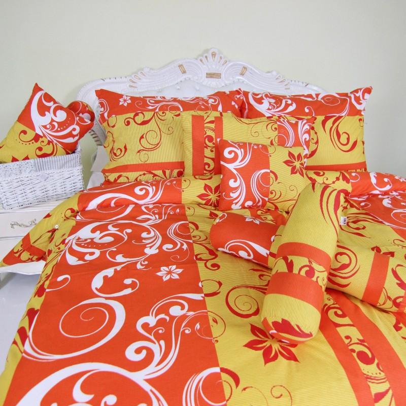 obliecky na postel oranžové