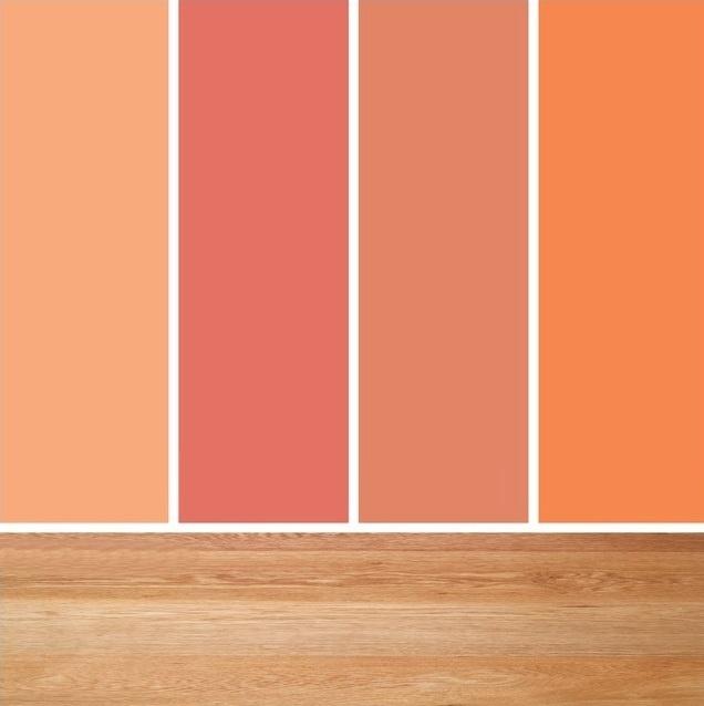 oranžová paleta farieb