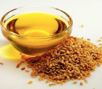 lněný olej a lněná semínka