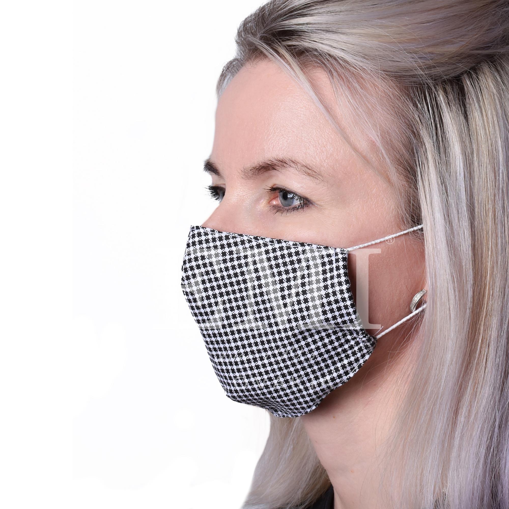 dvojvrstvové ochranné rúško zo 100% bavlny