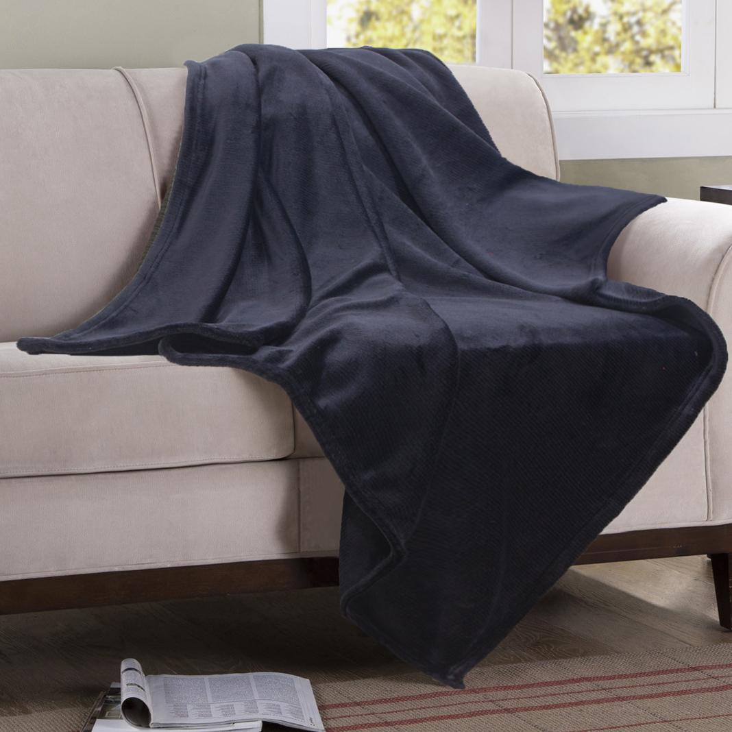 Čierna flanelová deka