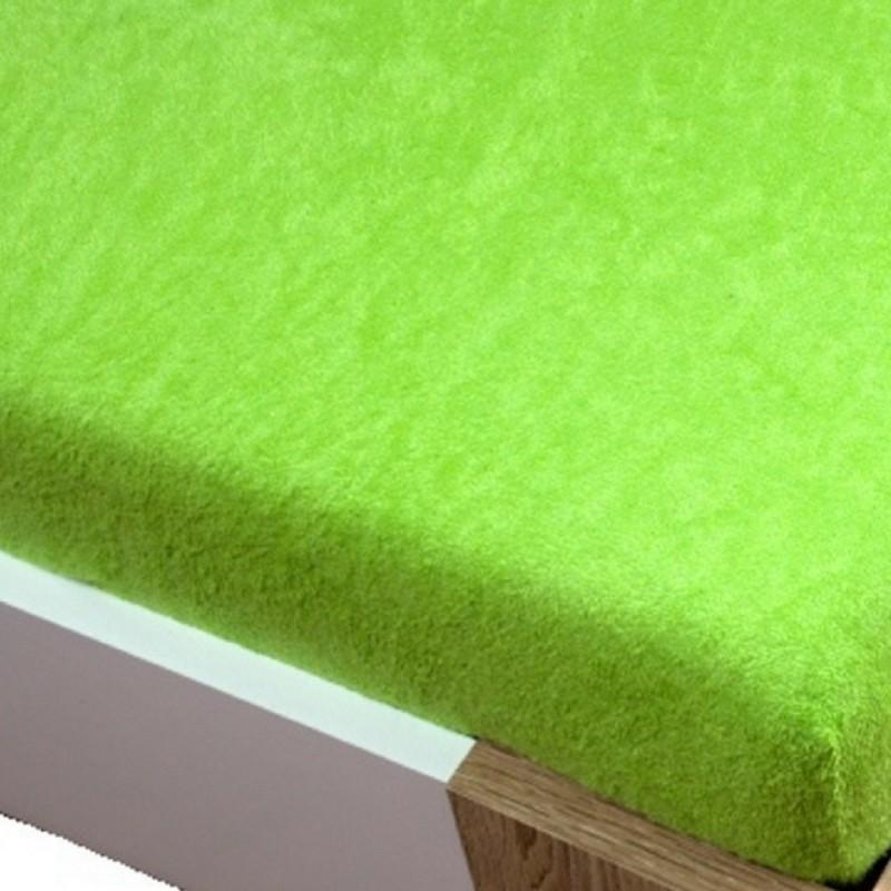 zelena plachta na postel