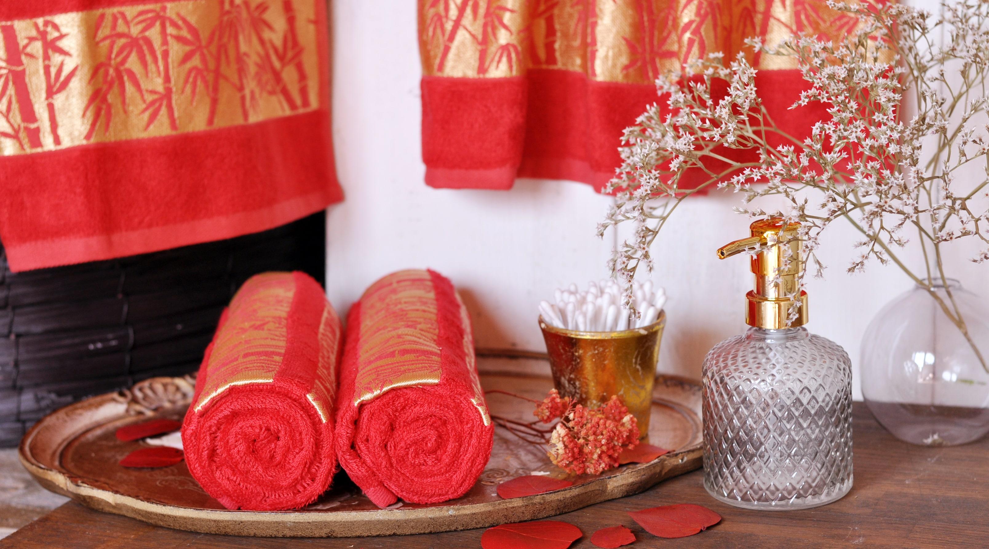Uterák bamboo červený